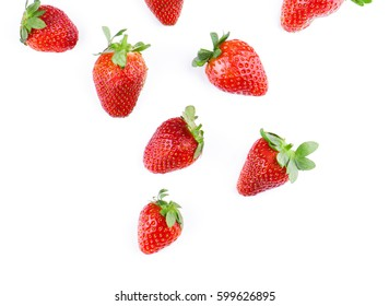 Strawberries falling.