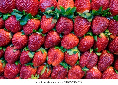 Strawberries in a fruit market