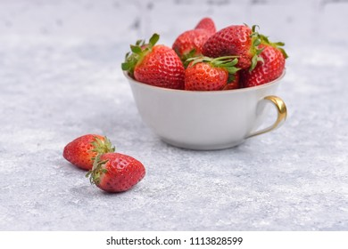Strawberries isolated in a cup