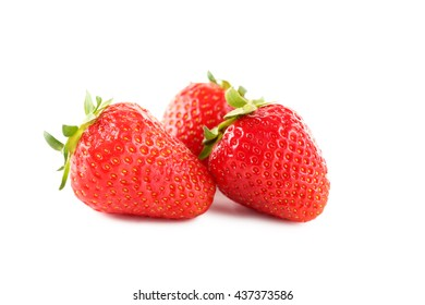 Strawberries isolated on a white background