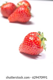 Strawberries on a white background isolated