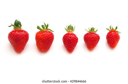 Strawberries on white collection