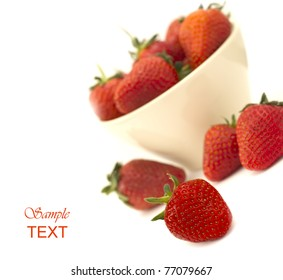 strawberries with the place for text