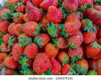 strawberries for sale in the market