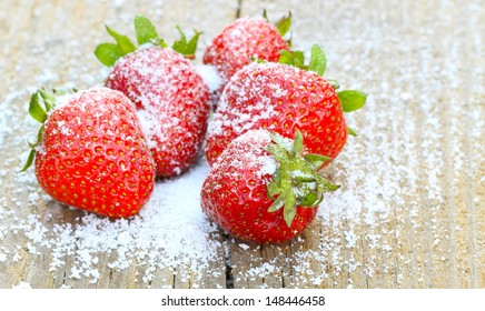 Strawberries with stevia