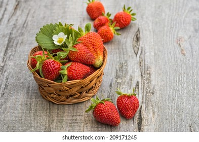 Strawberries in white background