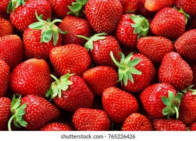 Strawberry background. Strawberries.