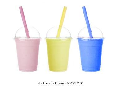 Strawberry Banana Blue Berry Smoothie Shakes