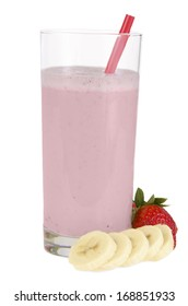 Strawberry and banana smoothie made with fresh Ingredients.
