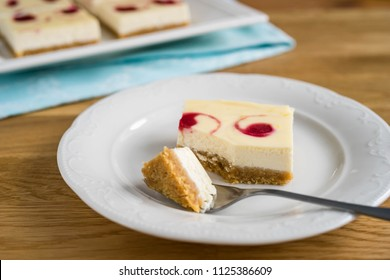 strawberry cheesecake on a plate