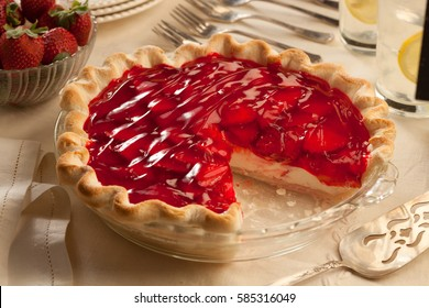 Strawberry Cheesecake with a slice