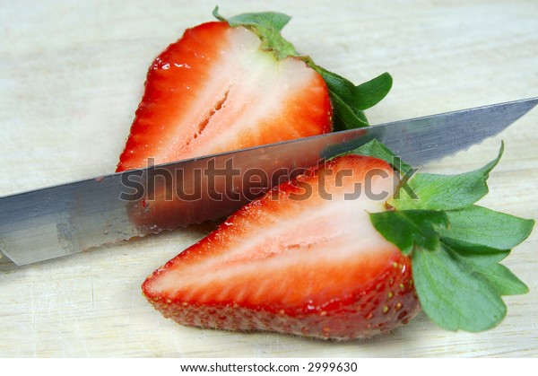 Strawberry cut in half (Series)