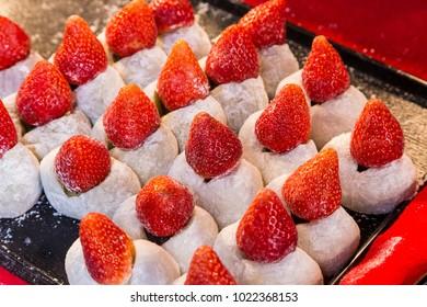 strawberry daifuku - Traditional Japanese dessert