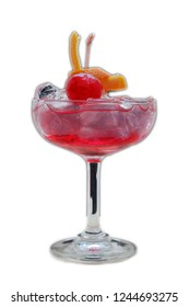Strawberry Daiquiri cocktail isolated background
