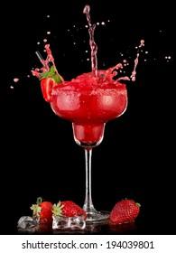 Strawberry daiquiri splash