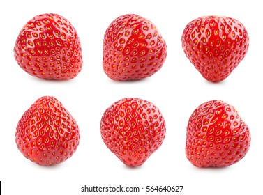 Strawberry. Fresh berry isolated on white background.