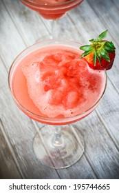 Strawberry frozen cocktail