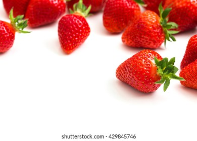 Strawberry Fruits on white
