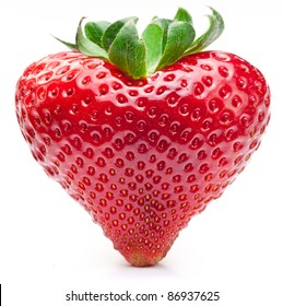 Strawberry heart. Isolated on a white background.