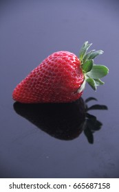 Strawberry isolated on black background