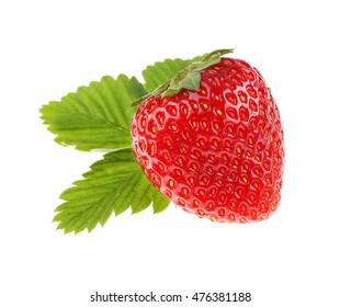 Strawberry, isolated on white