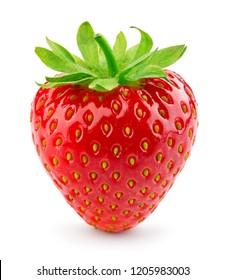 Strawberry isolated. Strawberry on white background.