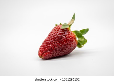 strawberry, isolated on white background