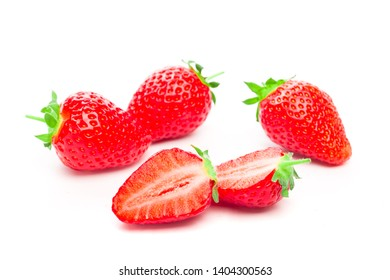 Strawberry isolated on white background. Clipping Path - Image