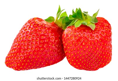 Strawberry isolated on white background. Clipping Path.