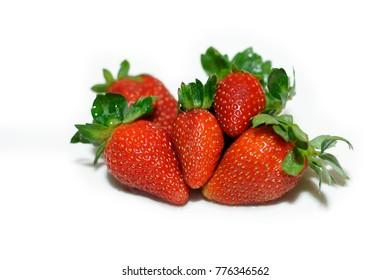 Strawberry isolated white background