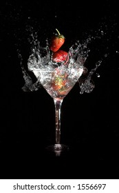Strawberry and martini mix
