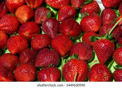 strawberry on market shelf on local market