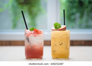 Strawberry and Passion Fruit Mocktail