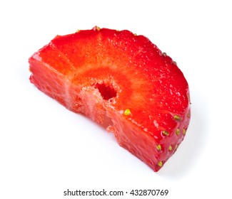 Strawberry. Piece and slice isolated