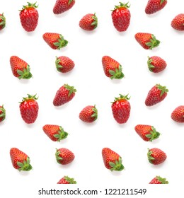 Strawberry seamless pattern. Food background concept. Backdrop for design.