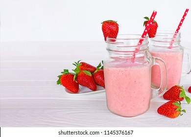 strawberry smoothies colorful fruit juice,beverage healthy the taste yummy In glass,drink episode morning on white background.