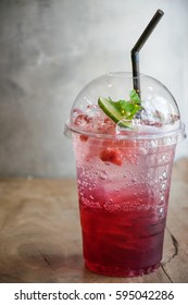 Strawberry soda, beverage for summer