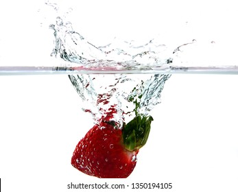 Strawberry splash with great detail and amazing colors