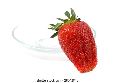 Strawberry, studio - isolated on white background