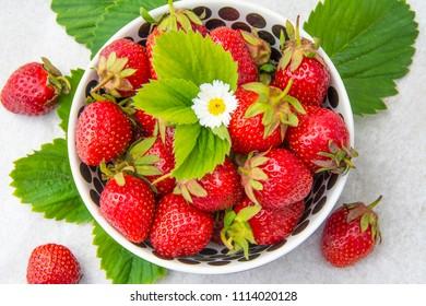 Strawberry. Sweet ripe strawberry.