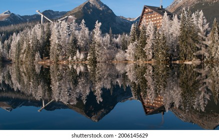 Strbske pleso  a jeho odraz vo vode - Shutterstock ID 2006145629