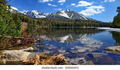 Strbske pleso - tarn in High Tatras mountains, Slovakia