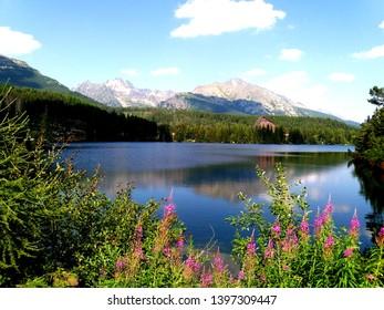 Strbske Pleso in the Tatra Mountains (Tatras) in Slovakia