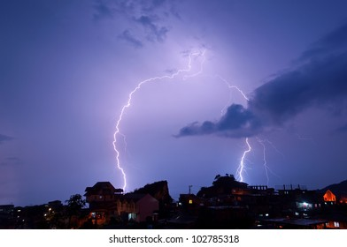 streaks of lightning
