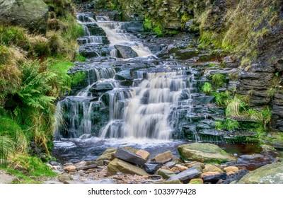 Stream at Grindsbrook Clough, Edale, Derbyshire, England