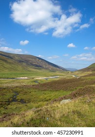 Stream in a Scottish Valley in the Highlands