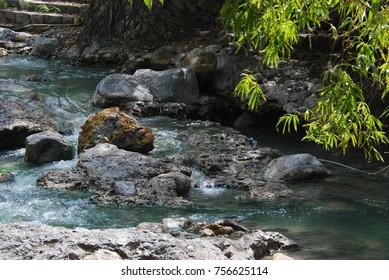 Stream side stones
