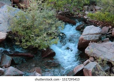 Stream of water in Eagle Creek, Tahoe, California
