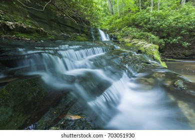 Stream & Waterfalls in Greenbrier in Great Smoky Mountains National Park, TN