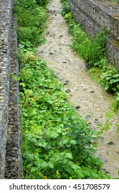Streambank And Shoreline  Stabilization Through The Use Gabions, Mountain Stream Landscape